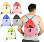 Mato & Hash Drawstring Cinch Bag Back...