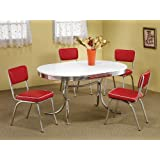 50′s Soda Fountain Table and Chairs Set by Coaster Furniture