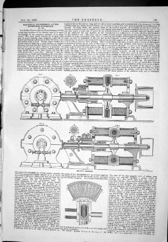 1885 Engineering Electrical Inventions Exhibition Gulcher Dynamos