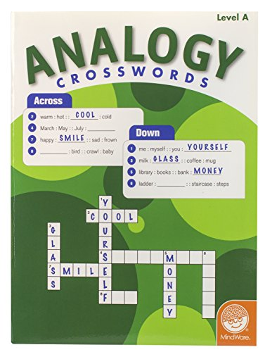 MindWare - Analogy Crosswords: Level A - 50 Puzzles - Great For Standardized Tests - Challenging and Engaging - Grades 2-4 - 1