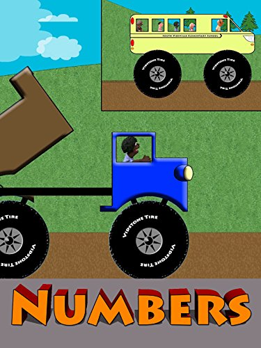 Tow Truck, Dump Truck and School Bus Numbers For Kids