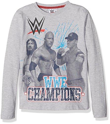 WWE Wrestling T-Shirt John Cena and Stars Ragazzo Manica Lunga-Originale, Maglietta Bambino, Panna, 8