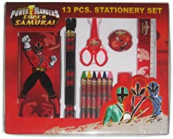 Power Rangers Stationery Set, Multi Color (13 Piece)