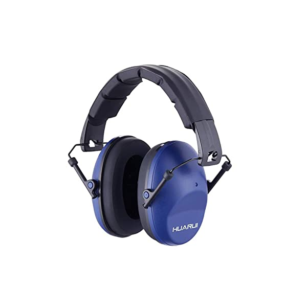 NoiseCancellingEarMuffs HUARUI, Adjustable Shooting Ear Muffs,Shooters Ear Protection Safety Ear Muffs, Lightweight Ear Muffs Noise Protection, Ear Muffs for Shooting Hunting (Blue) (Color: Blue)