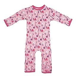 KicKee Pants Baby Girls\' Print Coveralls (Baby) - Lotus Stuffed Animal - 3-6 Months