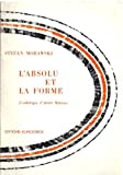 img - for Absolu Et La Forme (Collection D'esthetique) (French Edition) book / textbook / text book