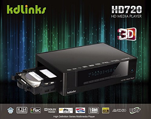 KDLINKS HD720 Extreme FULL HD 1080P 3D Media Player with Internal HDD Bay, Gigabit Network, Built-In Wifi