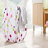Bathroom Foldable Washing Clothes Basket Laundry Bag Storage Hamper Bin Clothing Storage (Pattern: Dot)