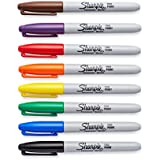 Sharpie 30078 Fine Point Permanent Marker, Assorted Colors, 8-Pack