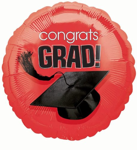 Orange Congrats Grad Balloon Bouquet