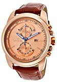Invicta Men's 15125 Specialty Rose Gold Tone Dial Brown Leather Band Watch Reviews