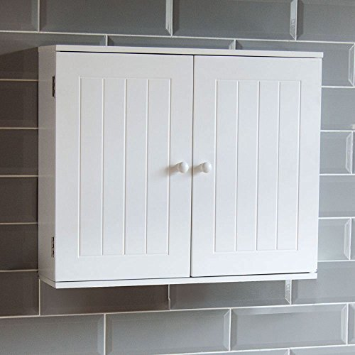 home-discountr-bathroom-cabinet-double-door-wall-mounted-storage-shelf-white