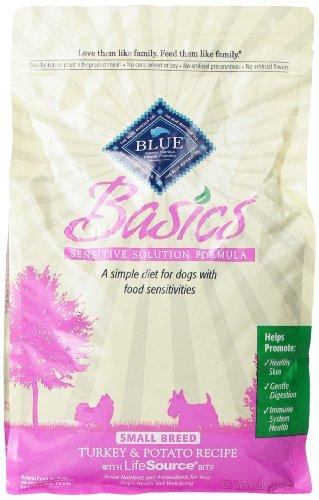 Blue Buffalo Small Breed Basics Limited Ingredient Formula Turkey And Potato Adult Dry Dog Food, 4-Pound