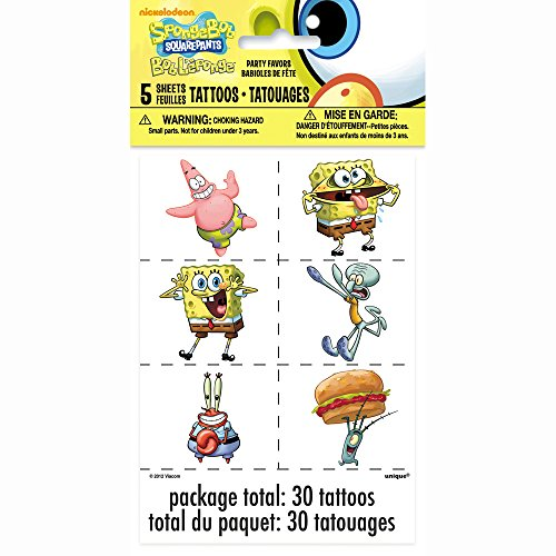 SpongeBob SquarePants Tattoos, 30ct - 1