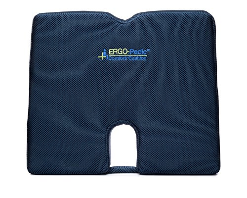 ERGO-Pedic Firm Large Sacral Wedge Seat Cushion, Orthopedic Memory Foam Drivers Seat Pillow for Back Pain Relief in Car & Truck (Car Seat Covers Harley Quinn compare prices)