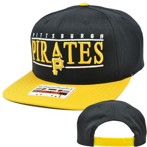 MLB American Needle Nineties Twill Cap Hat Snapback Flat Bill Pittsburgh Pirates