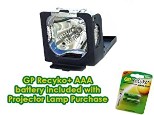 Canon LV-LP14 Projector Lamp Replacement - Premium DS Miller Project Lamp with FREE GP Recyko AAA Rechargeable Batteries