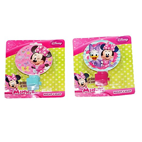 Disney Minnie Mouse Night Light, Set of 2 Colorful Nightlights