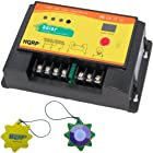 HQRP 20A Solar Panel Battery Charge Controller / Regulator 12V / 24V 20 Amp 300W with PWM Type of Charging plus HQRP UV Meter