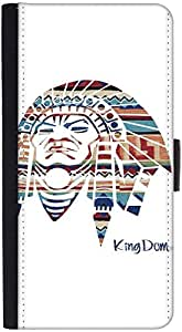 Snoogg Red Indian Graphic Snap On Hard Back Leather + Pc Flip Cover Htc One S