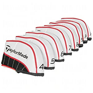 TaylorMade TM Irons Headcovers Set (4-P, X), White by TaylorMade