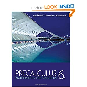 Precalculus Mathematics and Calculus STEWART