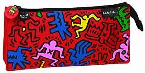 Quo Vadis Fourre-Tout rectangulaire Keith Haring en Toile 23x12,5cm Rouge