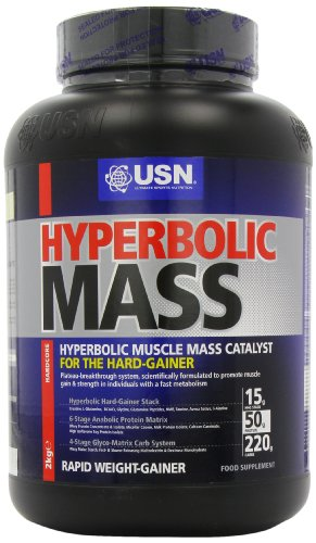 USN Hyperbolic Mass 2000 g Vanilla Weight and Muscle Gain Shake Powder