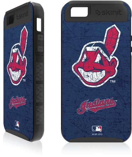 Best Price Cleveland Indians - Solid Distressed Apple iPhone 5 Cargo Case