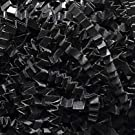 1/4 LB Crinkle Cut Paper Shred - Black - Gift Basket Filling