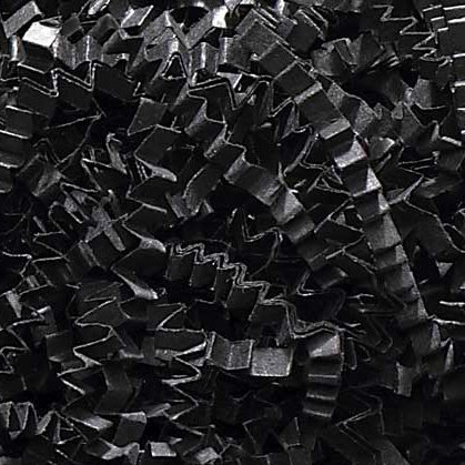 1/2 LB Crinkle Cut Paper Shred - Black - Gift Basket Filling