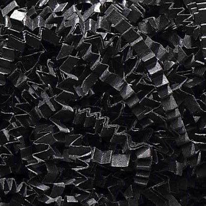 1/2 LB Crinkle Cut Paper Shred - Black - Gift Basket Filling