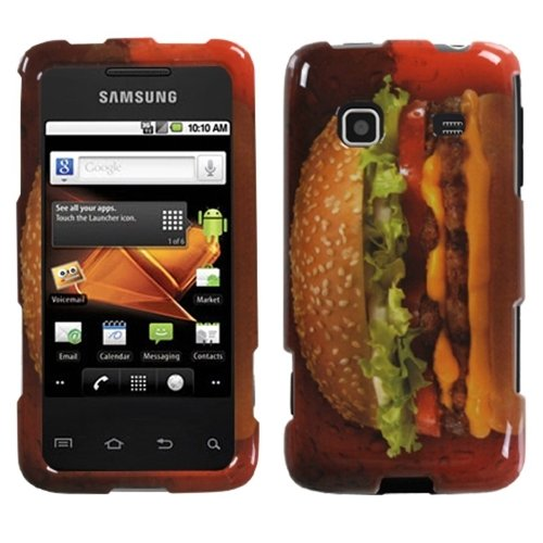 MYBAT SAMM820HPCIM910NP Compact and Durable Protective Cover for Samsung Galaxy Prevail/Precedent M820 - 1 Pack - Retail Packaging - Burger Lover-Food Fight