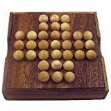 Solitaire Marble Wooden Brain Teaser Game