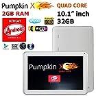 10.1 Android KITKAT 4.4.2 [QUAD Core] 32GB Tablet / 2GB RAM / Dual Cameras / Bluetooth / HDMI - (WHITE color) - PumpkinX