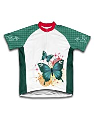 Sparkly Butterfly Short Sleeve Cycling Jersey for Women