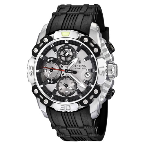 Festina Men's Bike 2011 Chronograph Watch F16543/1 with Rubber Strap and Silver Dial