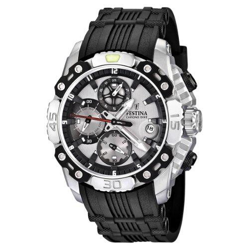 Festina F16543/1 - Reloj cronógrafo de cuarzo para hombre con correa de caucho, color negro