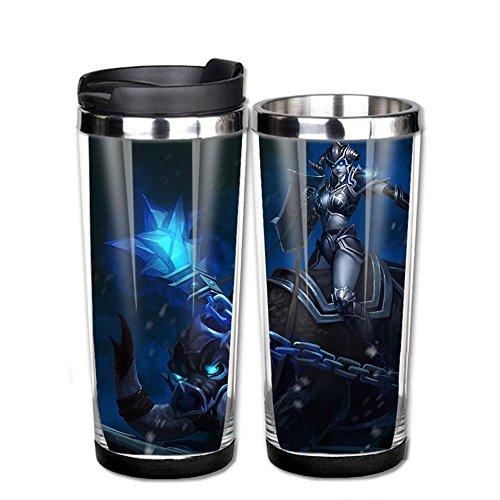 Acciaio inossidabile Lol Sejuani Death Knight pelle Coffee Cup tazza d'acqua