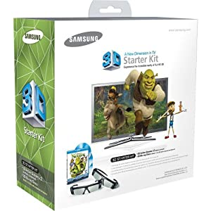 Samsung SSG-P2100S/ZA Shrek 3D Starter Kit - Black (Compatible with 2010 3D TVs)