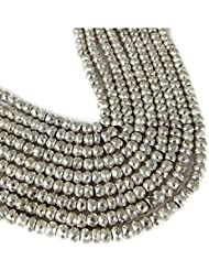 "Sumit Nice Silver Pyrite Faceted Gemstone Rondelle Beads Bead 7"" Long,6mm,7mm,8mm,Natural Faceted Rondelle Silver..."