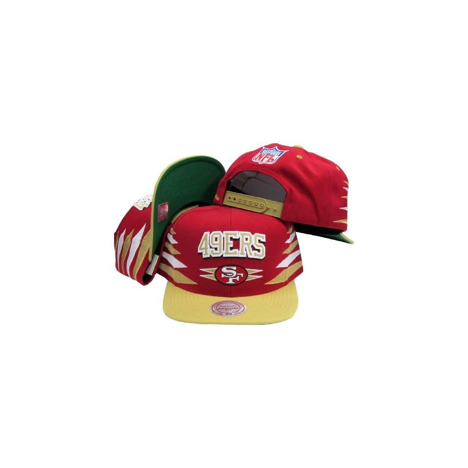 Mitchell & Ness San Francisco 49ers Red Gold Retro Diamond Snapback Adjustable Hat