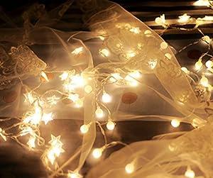 Bellabrunnen 33feet/10m Waterproof IP44 Long Globe String Light Starry Light for Garden, Home, Wedding, Christmas Party, 220V Plug Type from Bellabrunnen