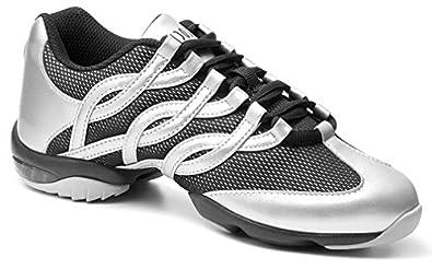 Bloch Women's Twist Dance Silver Fashion Sneakers 10 X