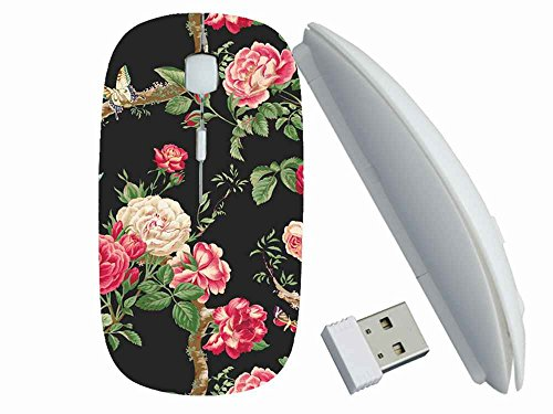 Protection Customized Series (Flower Butterfly) Gaming Mouse Wireless Mice Suitalbe Lady