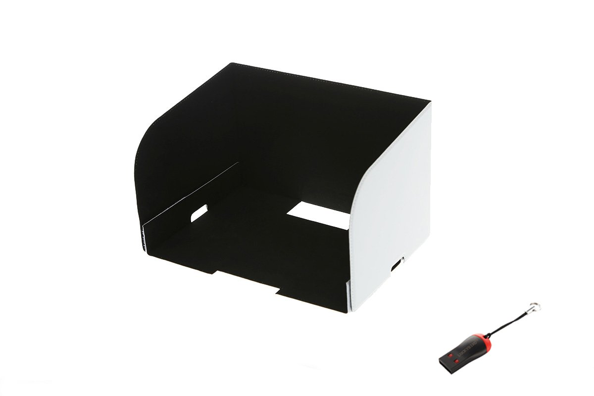 DJI Original Remote Controller Monitor Hood for Tablets (Inspire 1, Phantom 3 Pro/Adv, Phantom 4)(Sun hood, Sunshade, Sunhood, Monitor shade) bundle with free Luckybird USB Reader 1pc
