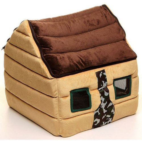 Winter Chocolate Teddy Pet House Dog House Kennel Pet Nest