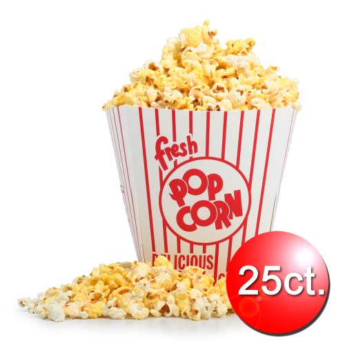85 oz Open Top Movie Theater Popcorn Bucket 25 Count (Popcorn Buckets Great Northern compare prices)
