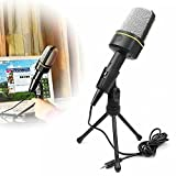Condenser Recording Microphone, Megadream® 3.5mm Stereo Audio Microphone Mic for PC Laptop Gaming Skype MSN with Tripod Stand - Perfect Voice Recorder, Noise Cancellation