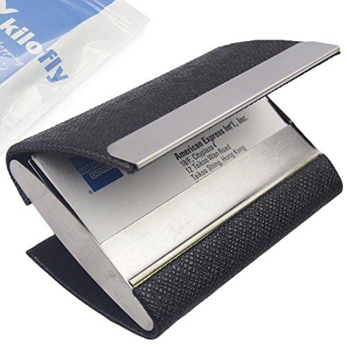 Kilofly business card holder 2 storage slot compartments for Business card holder multiple compartments